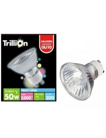 Trillion 50w GU10 Spotlight Reflector Bulb - 38° Beam Angle (240v)