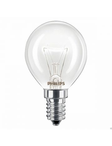 2 x 40w Philips oven Lamp SES E14 Small Screw Cap heat tolerant cooker light bulb