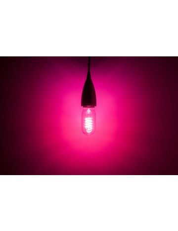 Prolite 4w LED Clear T45 Magenta Filament Bulb – Edison Screw / E27