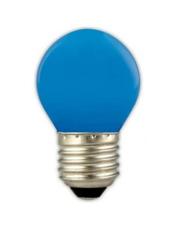 GE 15w Blue Coloured Golf Ball Lamp – Edison Screw Cap / E27 (240v)