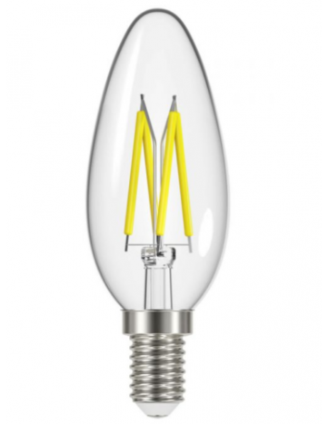 Energizer 5w (=40w) LED Clear Filament Candle Bulb (Extra Warm White / 2700k) - Small Edison Screw