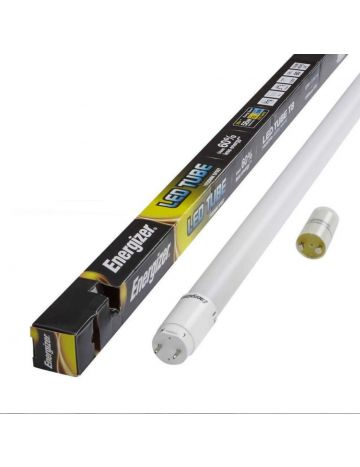 2x Energizer 4ft 18w LED T8 Frosted Tube - Cool White 4000k