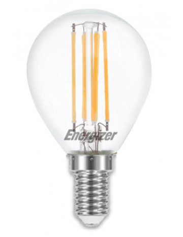 Energizer 4w (=40w) LED Clear Filament Golf Ball Bulb (Extra Warm White / 2700k) - Small Edison Screw