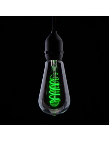 Prolite 4w LED ST64 Green Funky Filament Bulb – Edison Screw / E27