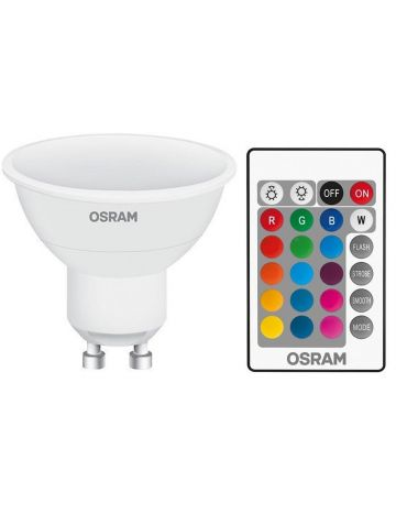 5w Osram LED Star Colour Changing / Dimmable GU10 Spot Lights (Red Green Blue White) Comes with Remote Control