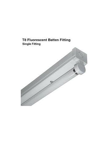 T8 LED Ready Batten Fittings Twin 4000k 6ft