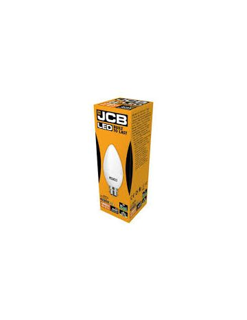 6w JCB LED SES E14 Opal Candle Light Bulb 3000k warm white