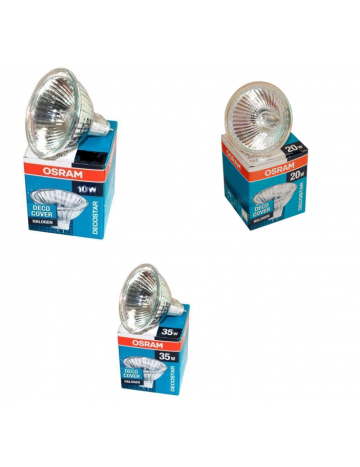 3 x Osram 35w MR11 Halogen spotlight lamp 12v reflector light bulb