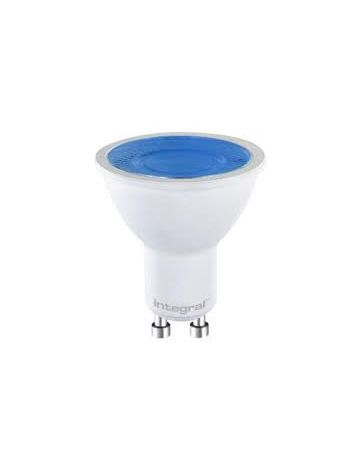 7w Prolite GU10 LED coloured spotlight bulb - dimmable