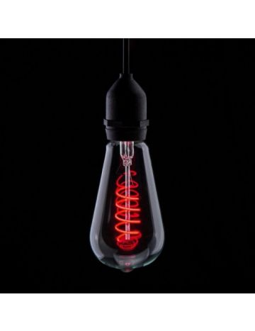 Prolite 4w LED ST64 Red Funky Filament Bulb – Edison Screw / E27
