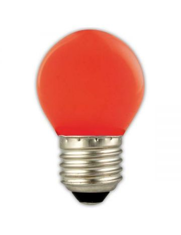 GE 15w Red Coloured Golf Ball Lamp – Edison Screw Cap / E27 (240v)
