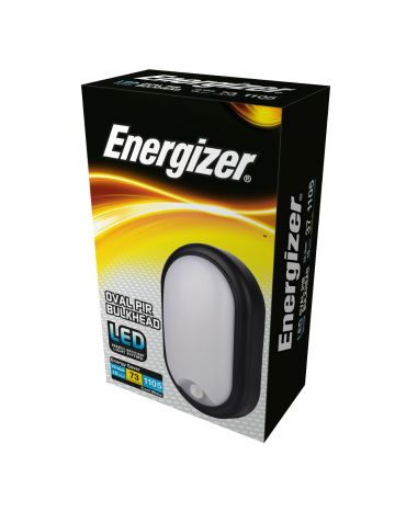 Energizer 15w Oval PIR Outdoor/Indoor Bulkhead - Cool White / 4000k
