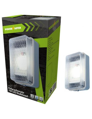 PowerMaster 7w LED IP65 Rated Rectangular Polycarbonate Bulkhead (6500k)