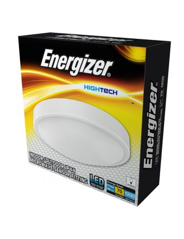 Energizer 17w IP44 White Sensor Bulkhead/Light - Cool White / 4000k