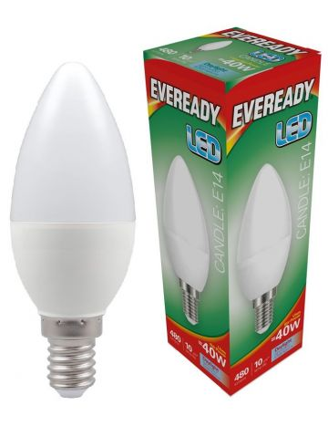 Eveready 6w (=40w) LED Candle Bulb – Small Edison Screw (Daylight White / 6500k)