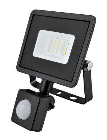 Eveready Black 10w LED PIR Floodlight - Cool White / 4000k