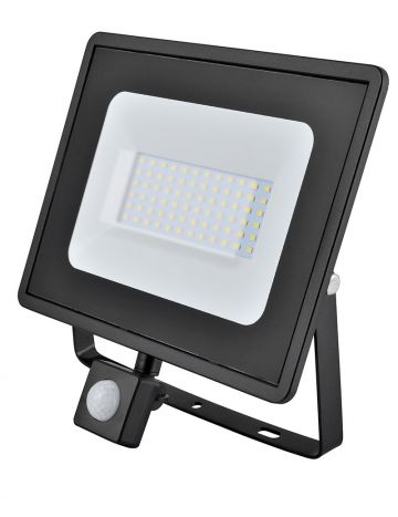 Eveready Black 50w LED PIR Floodlight - Cool White / 4000k