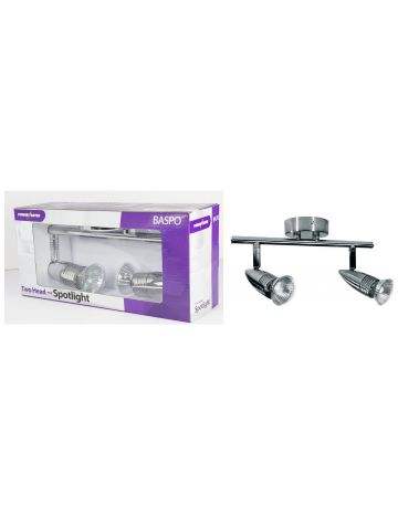 PowerMaster Indoor Basic Twin Spotlight Bar – Chrome Finish