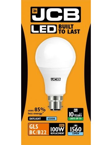 6w JCB LED Golf Ball Bulb B22 cap 3000k warm white