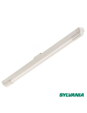 4Ft 16w Single [1800 Lumen] Sylvania LED IP20 Indoor Batten Fitting/Ceiling Light - Slimline Design - Energy Efficient - 4000k Cool White