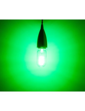 Prolite 4w LED Clear T45 Green Filament Bulb – Edison Screw / E27