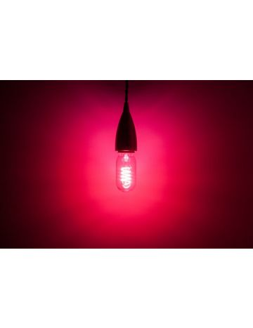 Prolite 4w LED Clear T45 Pink Glow Filament Bulb – Edison Screw / E27