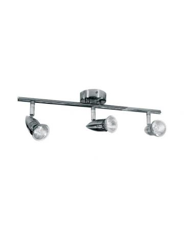 PowerMaster Indoor Basic Three Spotlight Bar – Chrome Finish (Fits 3 Bulbs)
