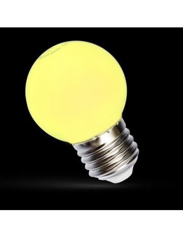 GE 15w Yellow Coloured Golf Ball Lamp – Edison Screw Cap / E27 (240v)
