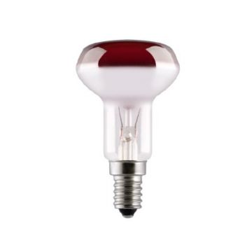 GE Coloured Reflector R50 40w Red SES / E14 230v Dimmable (91386)