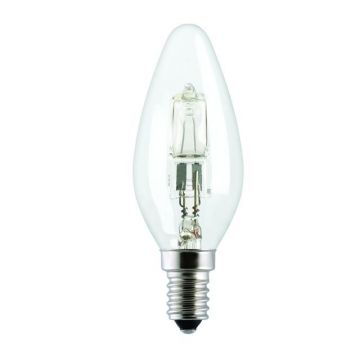 20w (25w) Halogen Candle Bulb E14 SES Small Edison Screw (Eveready S11858)