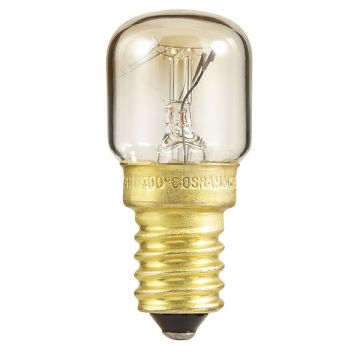OSRAM 15w E14 / SES up to 300° degrees Special T Oven Light Bulb