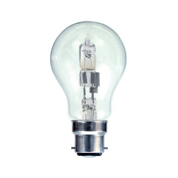 33w (40w) Halogen GLS (A60) Light Bulb B22 BC Bayonet Cap (Eveready S10132)