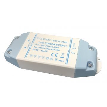 Meanwell 15w 12v DC LED Driver Indoor - EcoPack Power (ECP15-12VL)