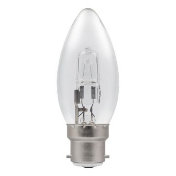 20w (25w) Halogen Candle Light Bulb B22 BC Bayonet Cap (Eveready S11857)