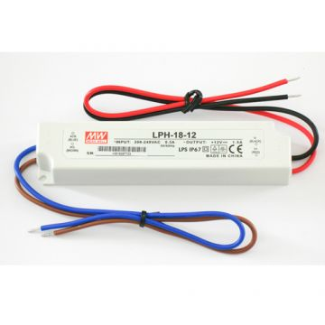Meanwell 18w 12v DC LED Driver waterproof IP65 (LPH-18-12)