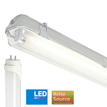 Non-Corrosive IP65 2FT Single Batten Fitting T8 Brite Source Daylight LED Tube FFB-NCLED12T8-SE&6000KTUBE