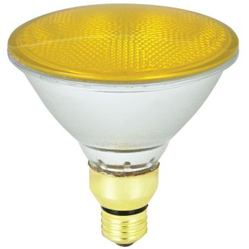 Sylvania 23w YELLOw PAR38 Minilynx ES Edison Screw - Disco / Party Lighting